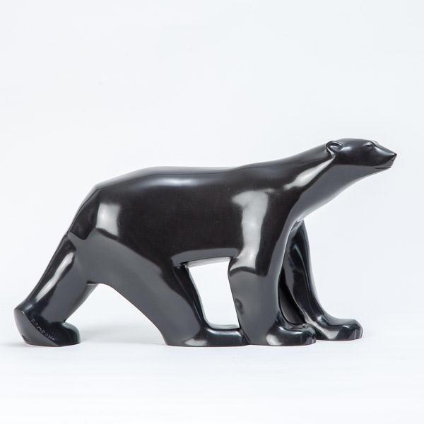 François POMPON (1855-1933)  - Ours polaire : bronze de Valsuani 1968