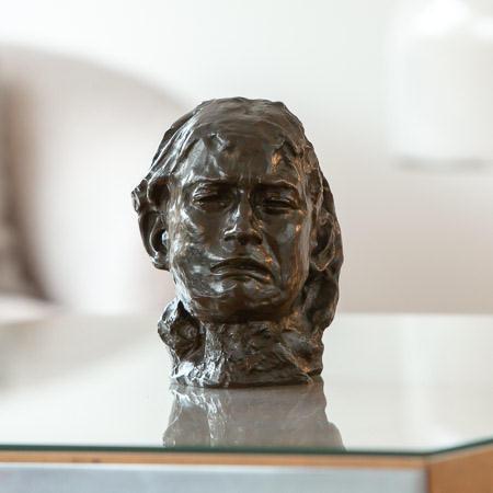 Auguste Rodin (1840-1917)  - Tête de la pleureuse, face of Camille Claudel