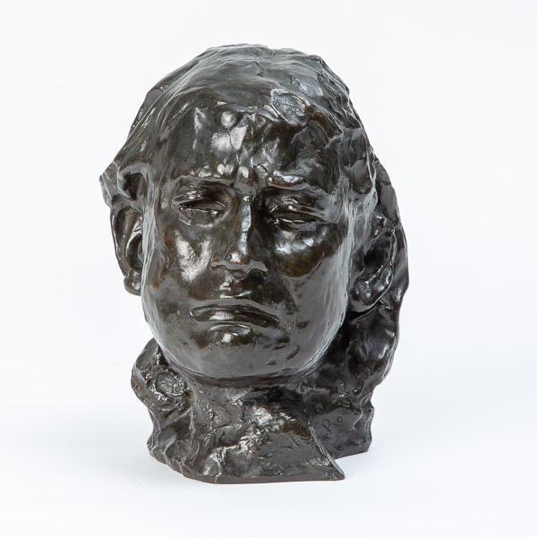 Auguste Rodin (1840-1917)  - Tête de la pleureuse, visage de Camille Claudel
