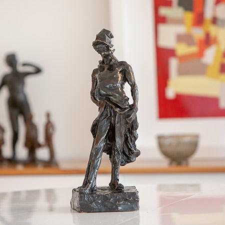 Honoré DAUMIER (1808 - 1879)  - Le Ratapoil, black patina bronze