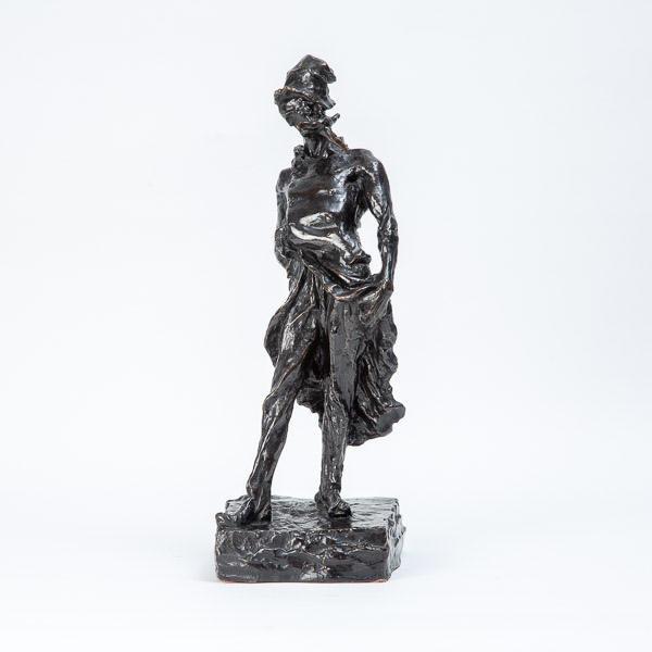 Honoré DAUMIER (1808 - 1879)  - Le Ratapoil, bronze à patine noire