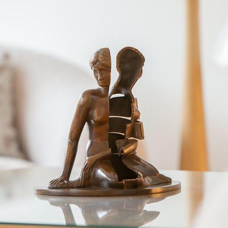 Arman (1928-2005)  - Mi-Siren. Bronze sculpture. 1996