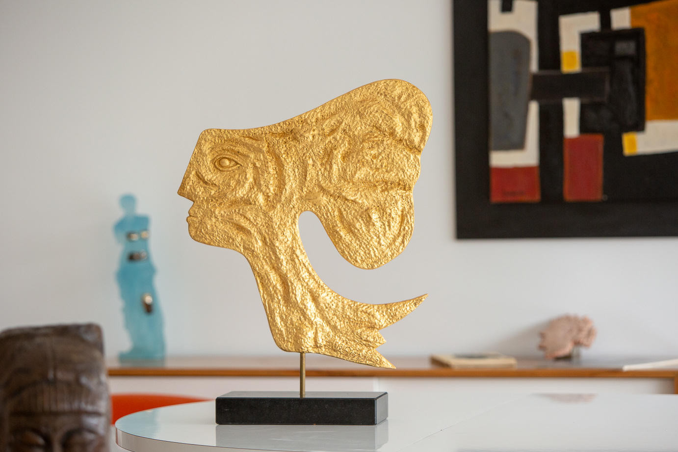 Georges Braque (1882-1963)  - Atalante, sculpture coated with gold