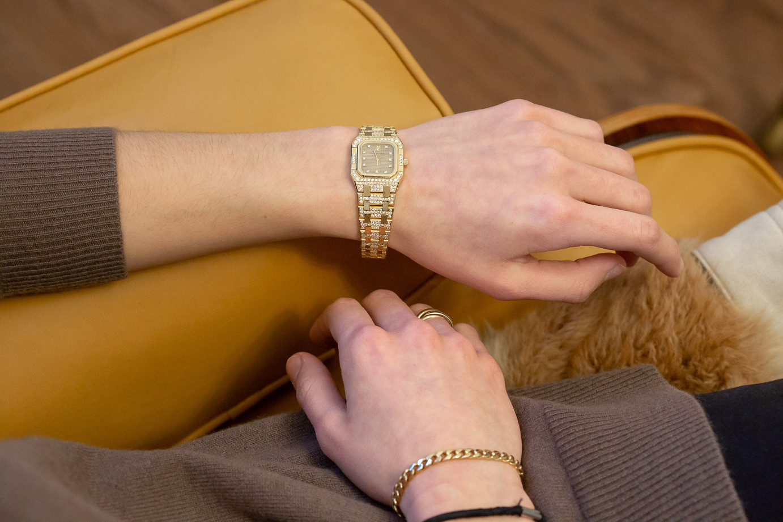Audemars Piguet  - Royal Oak - Lady's 18k yellow gold and diamond-set bracelet wristwatch