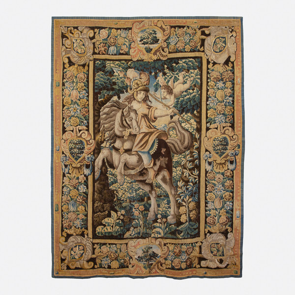 Ateliers de la Marche (Aubusson - Felletin)  - Tapestry «Jeanne d'Arc on horsebackl», 17th century after Claude Vignon