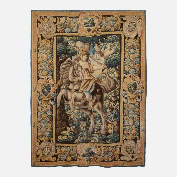 Ateliers de la Marche (Aubusson - Felletin)  - Tapisserie « Jeanne d'Arc à cheval », XVIIe siècle d'après claude Vignon