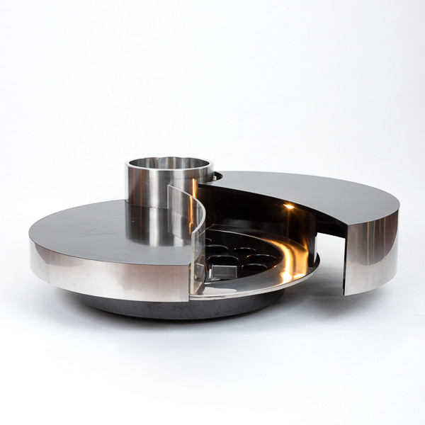 Massimo Papiri  - Table basse éclairée avec compartiment bar