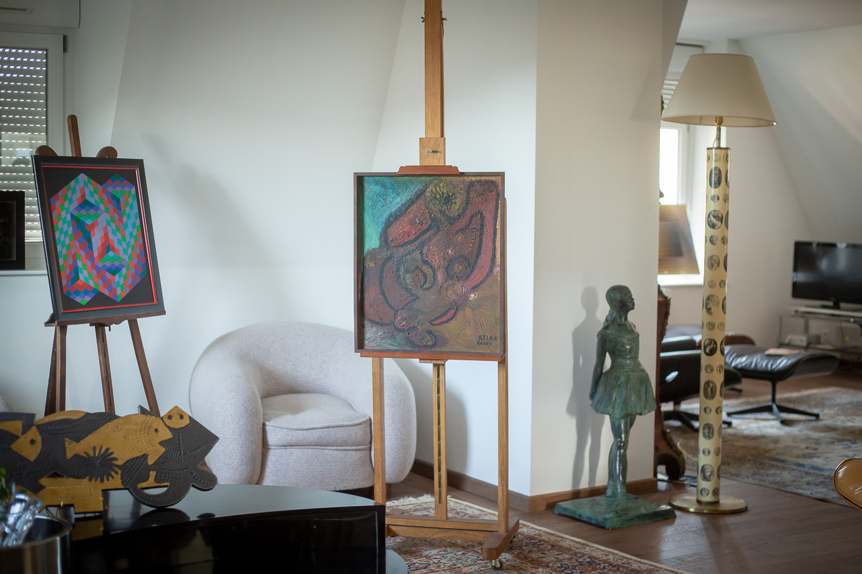 Jean-Michel Atlan (1913-1960)  - Composition, 1945, oil on Isorel