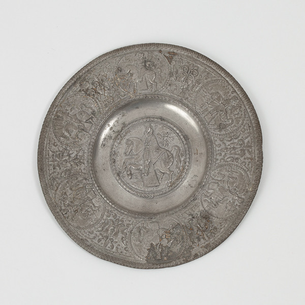 Paulus Oham the Younger (1634-1671)  - Small plate called paten representing Emperor Ferdinand III
