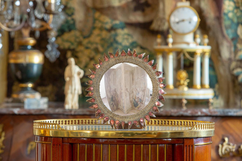 Line Vautrin (1913-1997)  - Thistle, Convex resin mirror and talosel, circa 1955