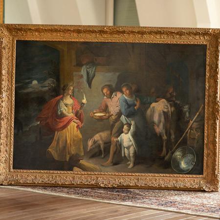 DAVID RYCKAERT III (1612-1661)  - Cérès demandant l'hospitalité aux paysans
