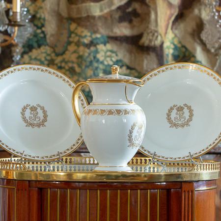 Manufacture royale de Sèvres  - Ensemble du «Service des Princes» de Louis-Philippe au château des Tuileries