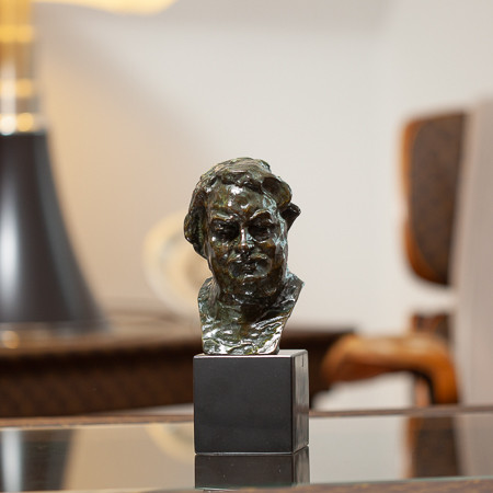 Auguste Rodin (1840-1917)  - Bust of Balzac, bronze with shaded green patina