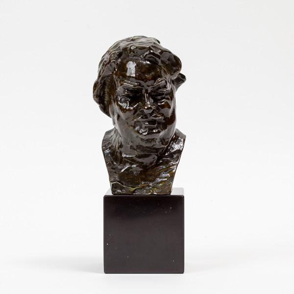 Auguste Rodin (1840-1917)  - Buste de Balzac, bronze 3ème version, petit modèle