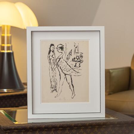 Marc Chagall (1887-1985)  - Gravure à l'eau forte «De mauvais sujets», rare épreuve d'essai