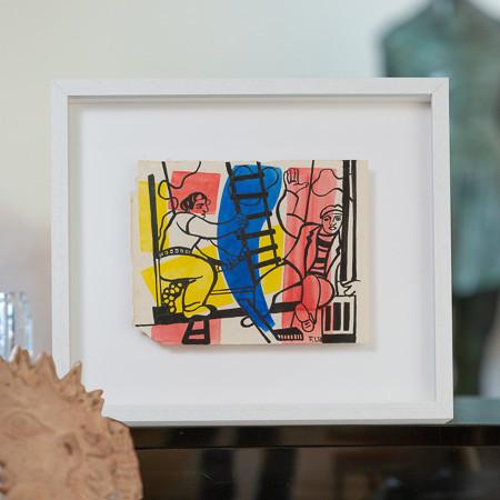 Fernand Léger (1881-1955)  - Etude pour les Constructeurs à l'aloès, gouache sur papier 1952
