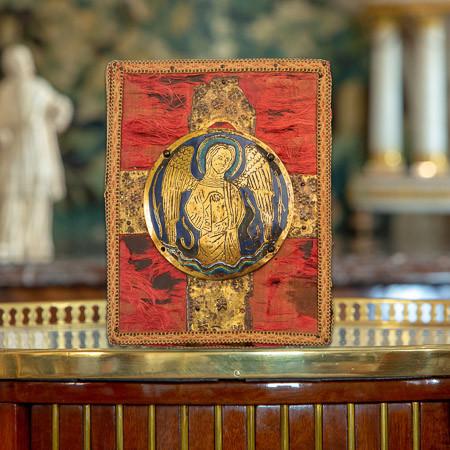 Médaillon d'applique en émail champlevé limousin du 2ème quart du XIIIe siècle
