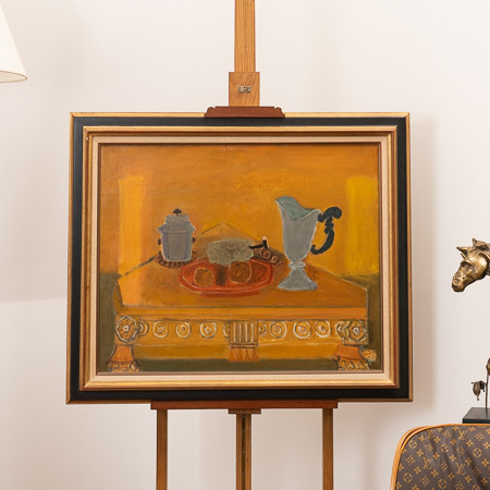 Henri Hayden (1883-1970)  - «La table triangulaire», oil on canvas circa 1959