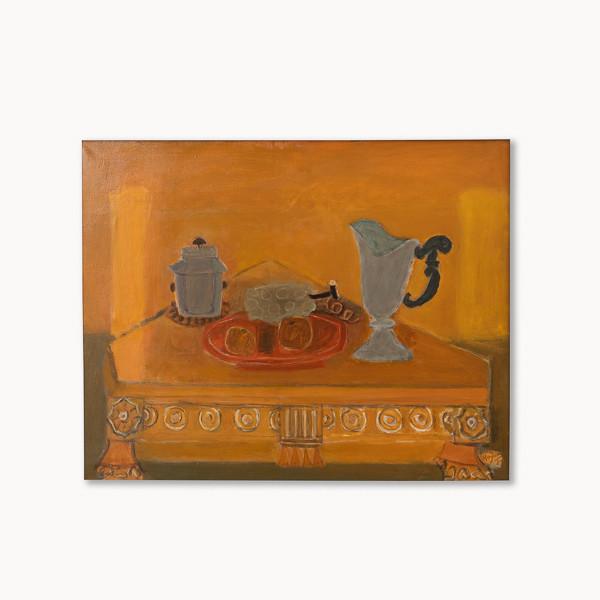 Henri Hayden (1883-1970)  - «La table triangulaire», huile sur toile  circa 1959