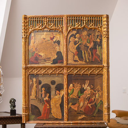 Circle of Martin de Soria (1449-1487)  - Scenes from the life of the Virgin - Tempera and gold on panel