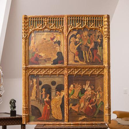 Entourage de Martín de Soria (1449-1487)  - Scènes de la vie de la Vierge - Tempera et or sur panneau