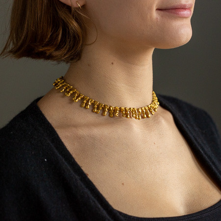 Rare Roman gold necklace found in the ruins of Herculaneum