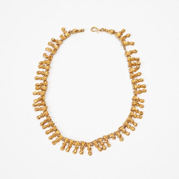 Rare collier romain en or trouvé dans les ruines d'Herculanum