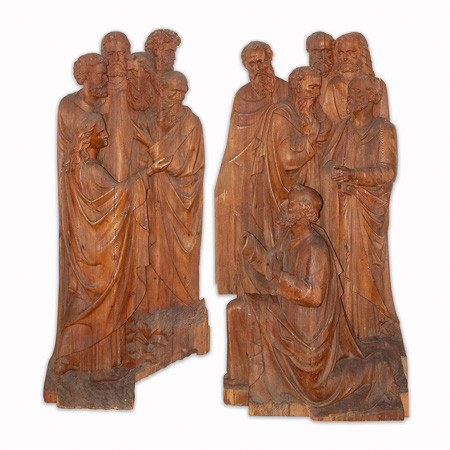 Exceptional sculpted group from the Quattrocento - Northern Italy  first half of the 15th century